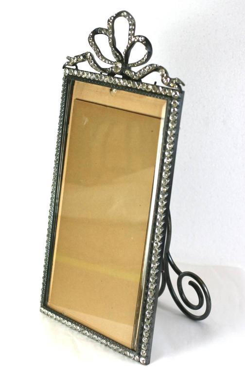 Late 19th Century Wonderful Victorian Jeweled Paste Set Frame For Sale