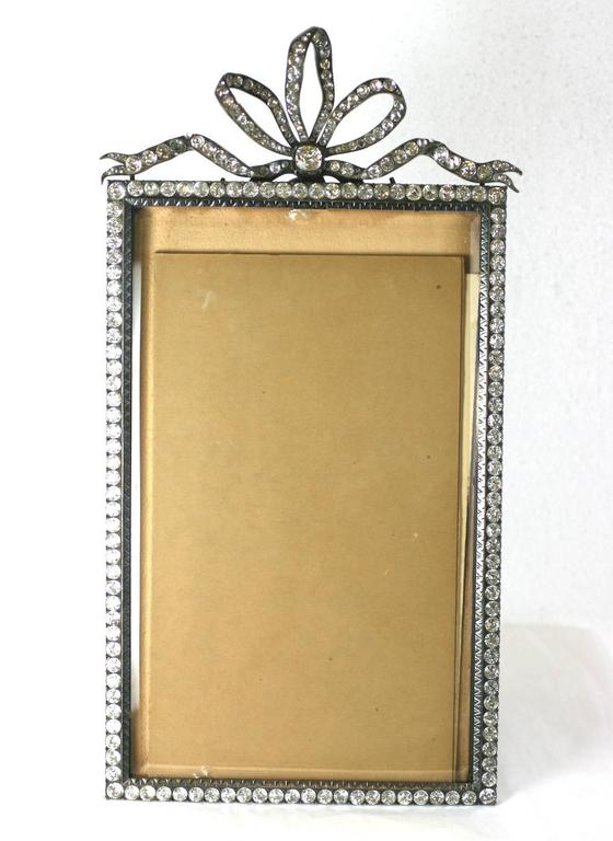 Wonderful Victorian Jeweled Paste Set Frame In Excellent Condition For Sale In Riverdale, NY