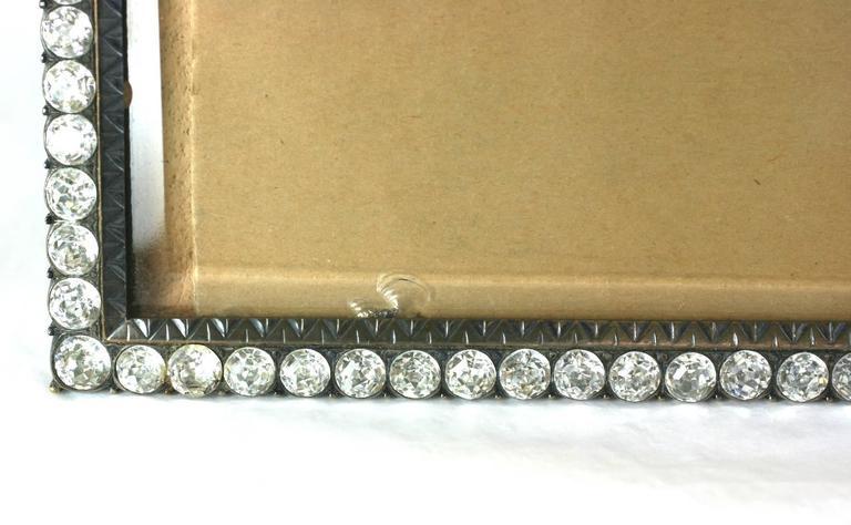 Wonderful Victorian Jeweled Paste Set Frame For Sale 2