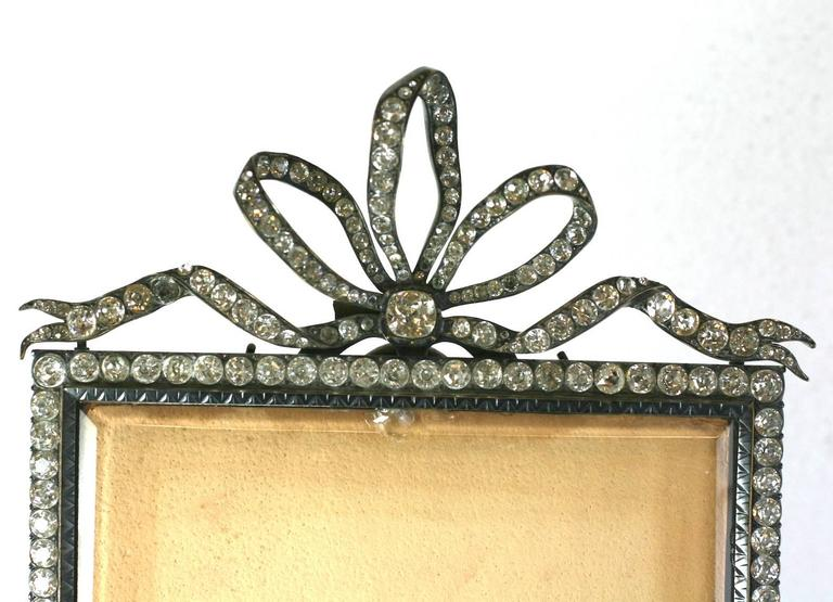 Wonderful Victorian Jeweled Paste Set Frame For Sale 1
