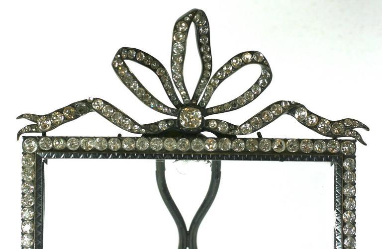 British Wonderful Victorian Jeweled Paste Set Frame For Sale