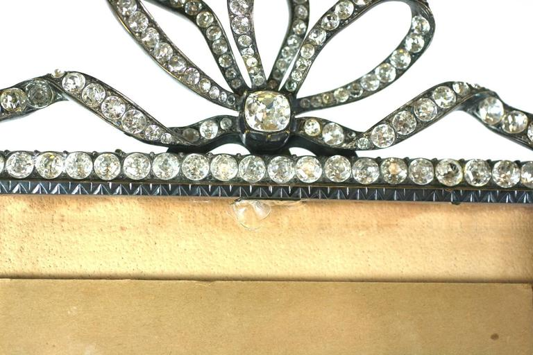 Silvered Wonderful Victorian Jeweled Paste Set Frame For Sale