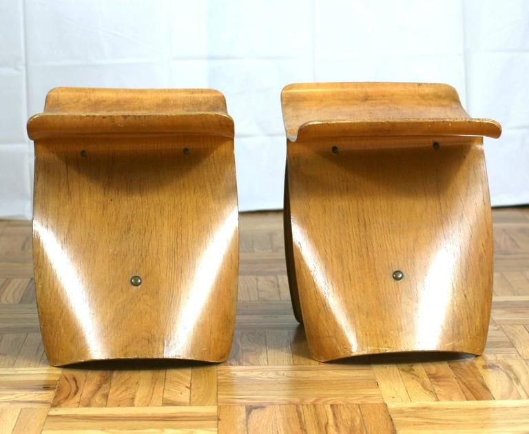 Pair of Sori Yanagi Butterfly Stools In Good Condition For Sale In Riverdale, NY