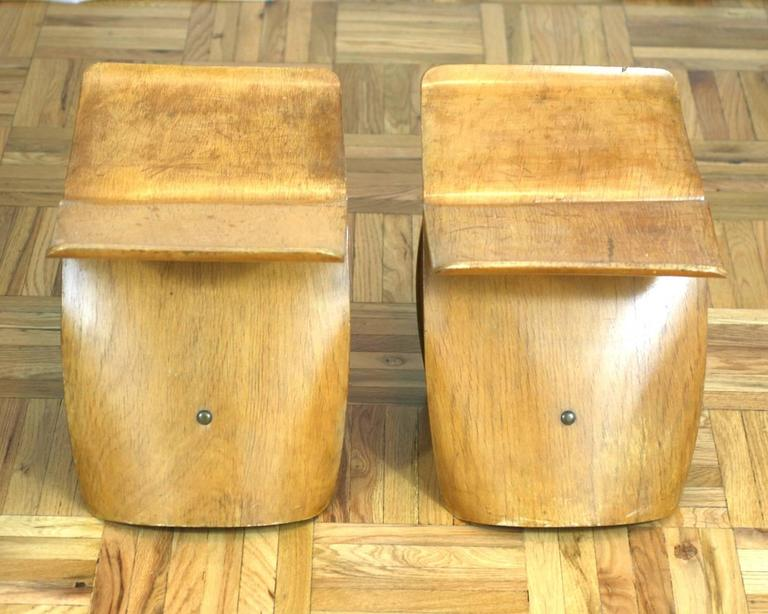 Molded Pair of Sori Yanagi Butterfly Stools For Sale
