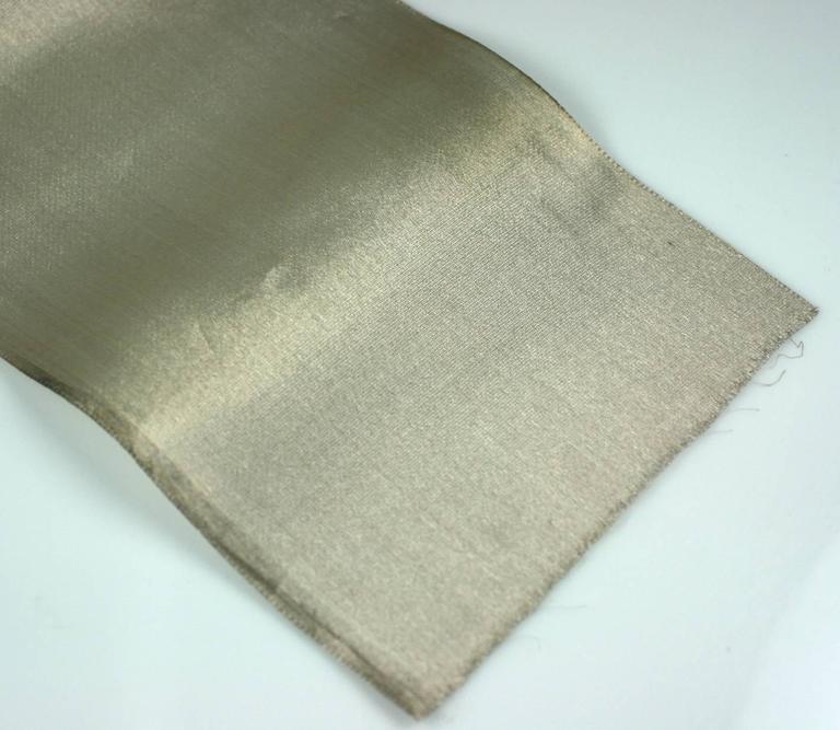 Art Deco Antique Silk Lame Silver Ribbon For Sale