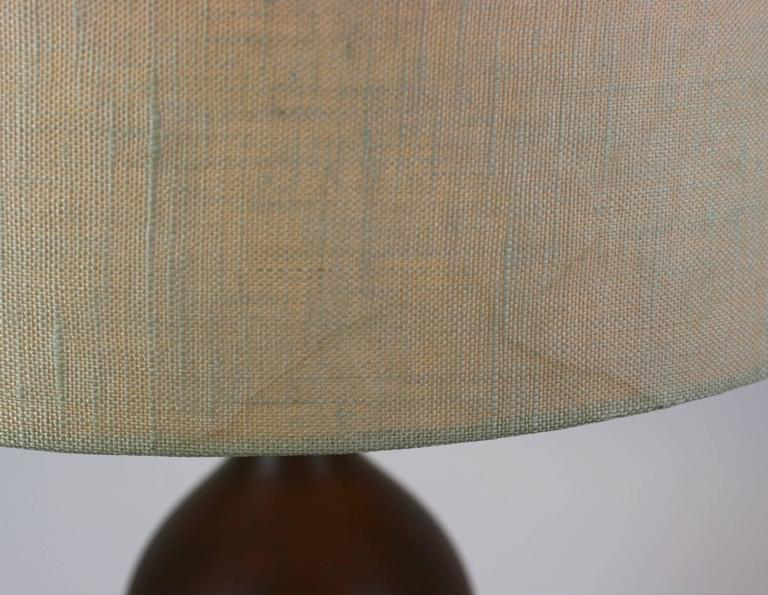 Elegant Turned Wood Lamp In Excellent Condition For Sale In Riverdale, NY