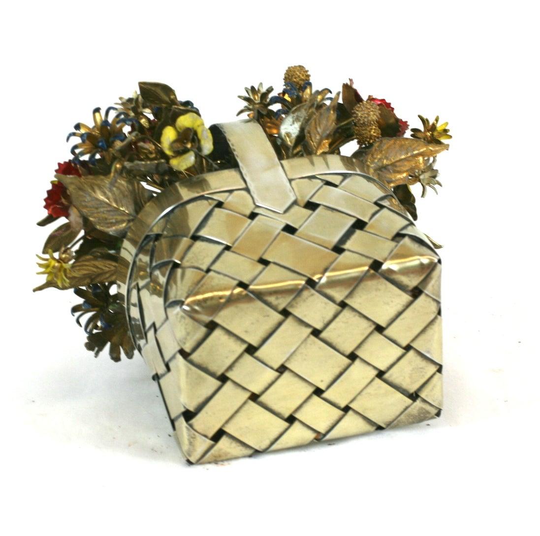 Cartier Sterling Enamel Flower Basket at 1stdibs