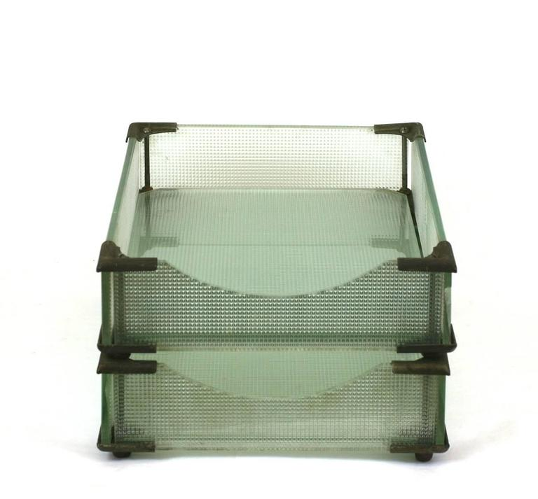 Art Deco Glass Letter Holders In Excellent Condition For Sale In Riverdale, NY
