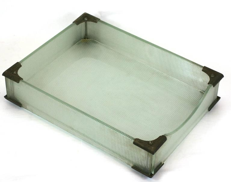 Mid-20th Century Art Deco Glass Letter Holders For Sale