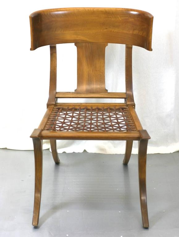 Greek Revival T.H. Robsjohn-Gibbings Klismos Chairs by Saridis, Athens For Sale