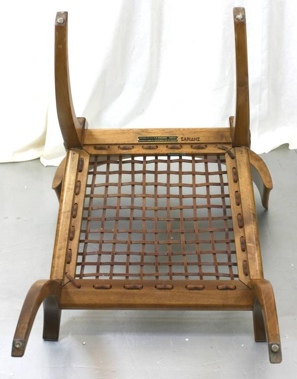 T.H. Robsjohn-Gibbings Klismos Chairs by Saridis, Athens For Sale 1