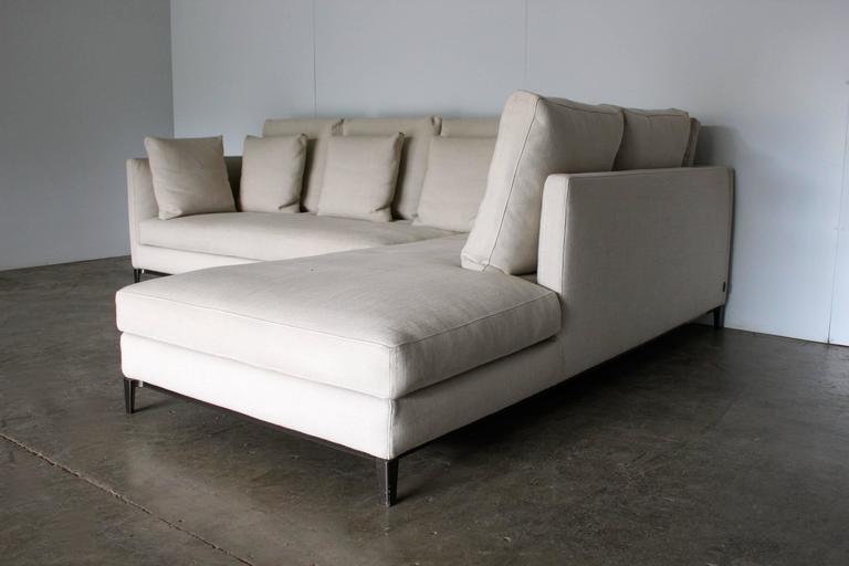 Minotti Quot Andersen Slim 103 Quilt Quot L Shape Sofa By Dordoni
