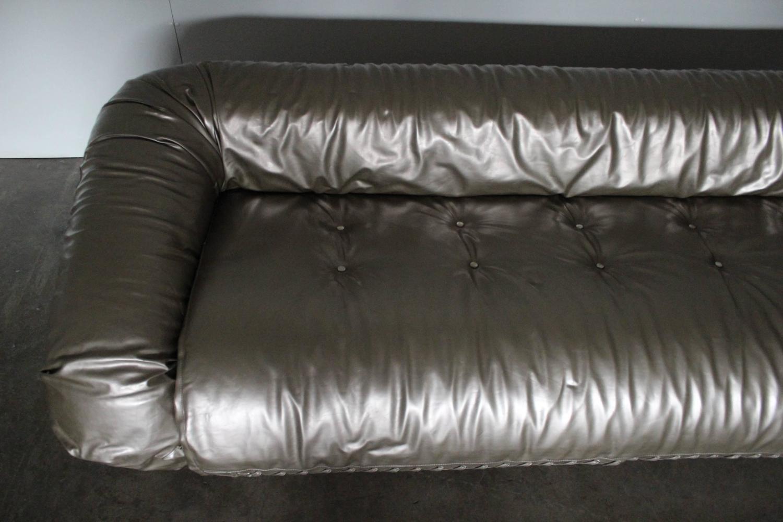 Giovanetti Anfibio Three Seat Sofa Bed In Metallic