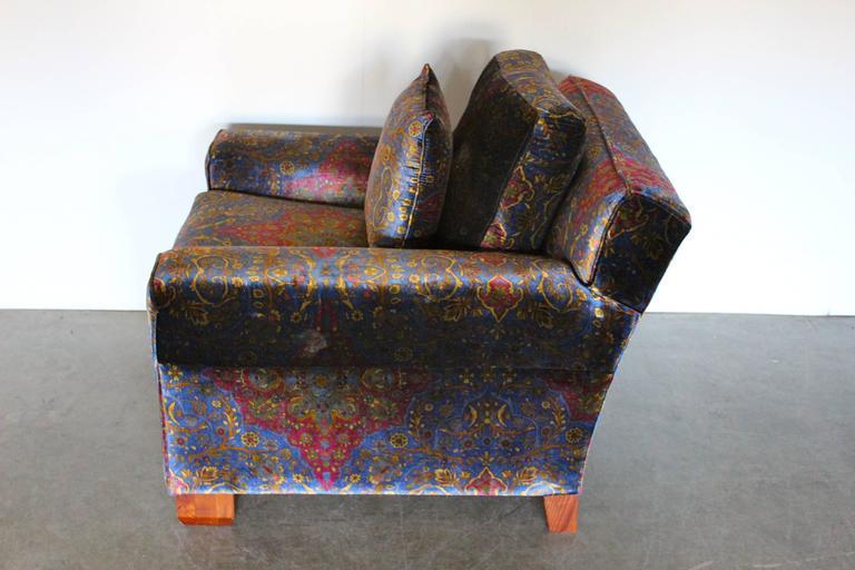 Ralph Lauren Club Armchair In Pearlescent Paisley Velvet