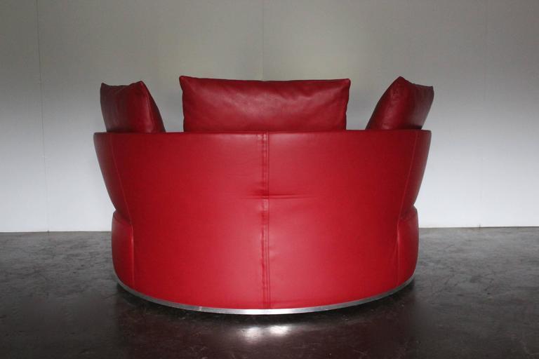 B Amp B Italia Quot Amoenus Quot Round Circular Ottoman Sofa In Red