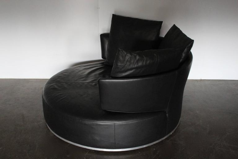 B Amp B Italia Quot Amoenus Quot Round Circular Ottoman Sofa In Black