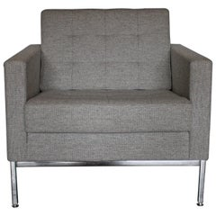 "Knoll Studio ""Florence Knoll"" Lounge Armchair in Mid-Grey Wool"