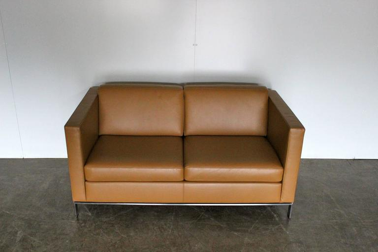 Walter Knoll Quot Foster 500 20 Quot Two Seat Sofa In Pale Leather