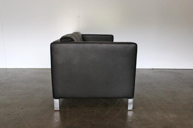 walter knoll foster 2 5 seat sofa in black. Black Bedroom Furniture Sets. Home Design Ideas