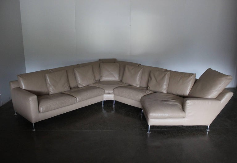 "On offer on this occasion is superb, beautifully-presented example of the iconic ""Harry"" six-seat, L-shape, chaise-end sectional-sofa and ottoman from the world renown Italian furniture house of B&B Italia.