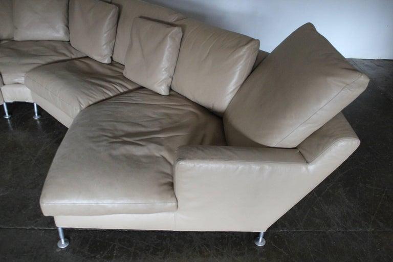 B Amp B Italia Harry Six Seat L Shape Sofa And Ottoman In