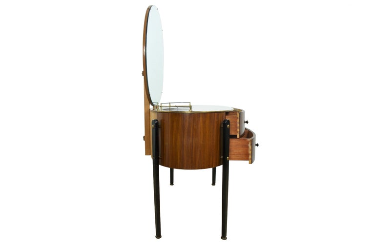Mid-Century Modern Dressing Table Vanity, English, circa 1950s In Excellent Condition For Sale In Banner Elk, NC