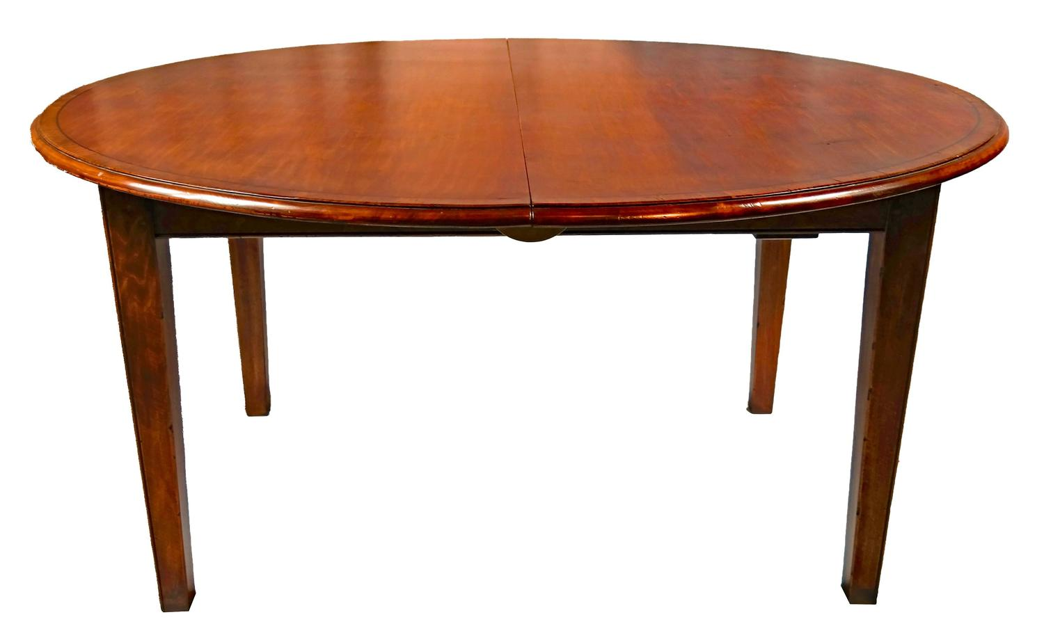 Round cherry yewwood banded dining table for sale at 1stdibs for Cherry dining table