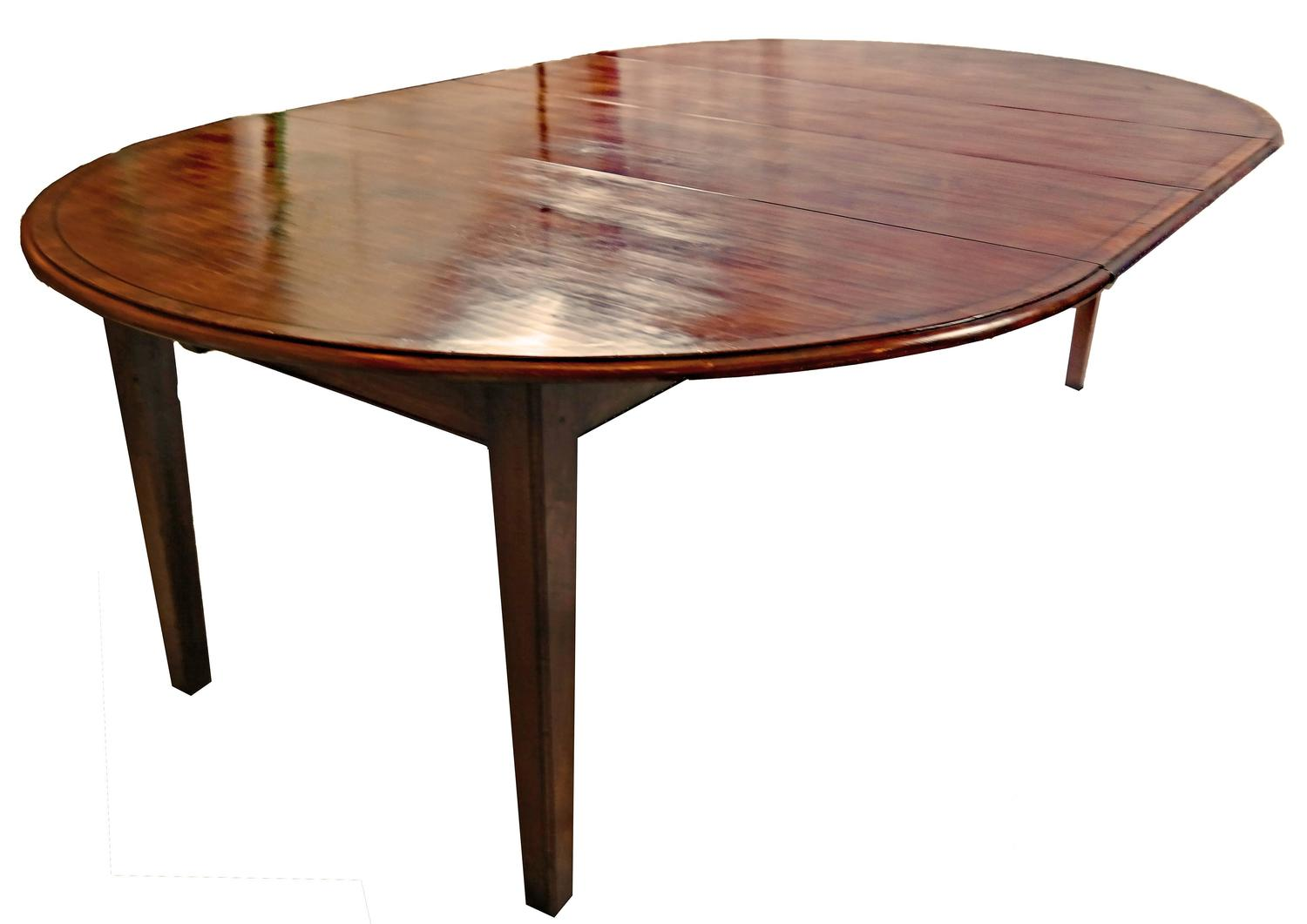Round cherry yewwood banded dining table for sale at 1stdibs for Round dining room tables for sale