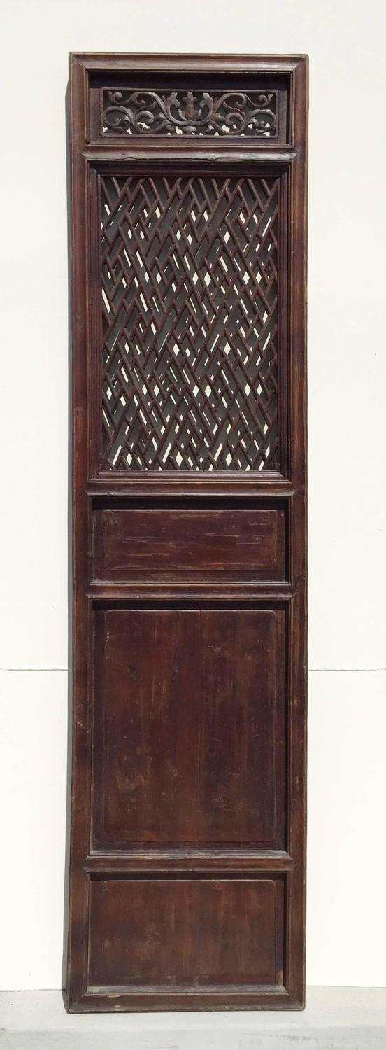set of 6 chinese antique lattice screen doors 19th On screen doors for sale