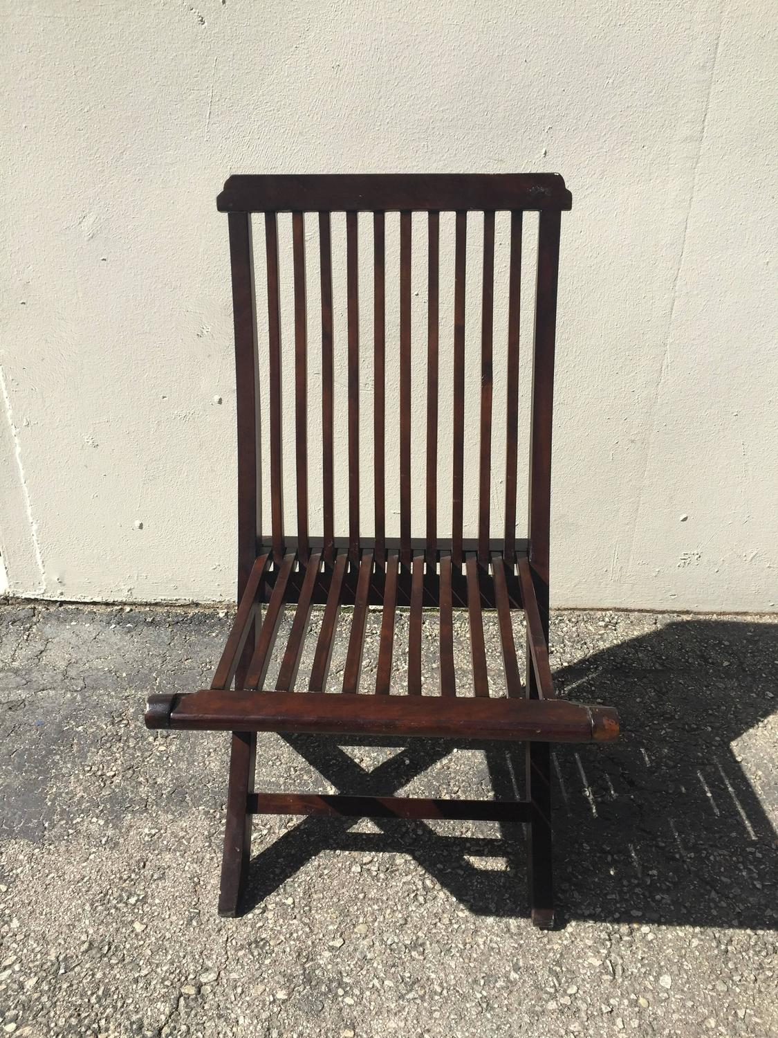 Set Of Five Wood Folding Chairs Patio Chairs At 1stdibs. Full resolution  photograph, nominally Width 1125 Height 1500 pixels, photograph with #7D744E.