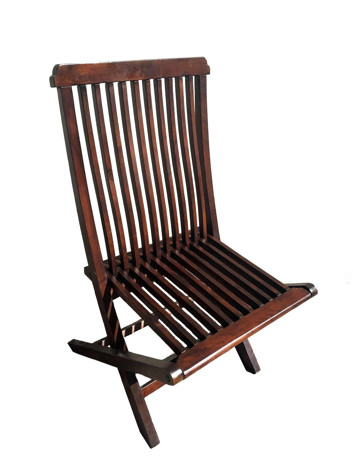 set of five wood folding chairs patio chairs at 1stdibs