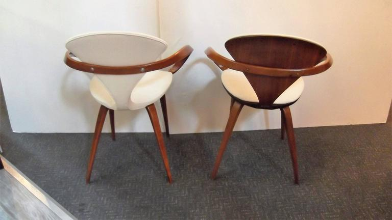 Near Pair of Norman Cherner Pretzel Chairs 5