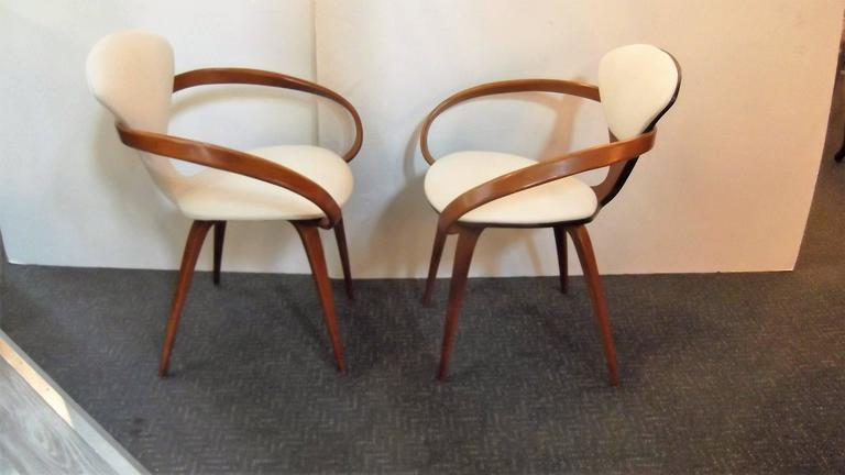 Near Pair of Norman Cherner Pretzel Chairs 6