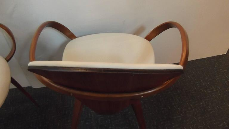 Near Pair of Norman Cherner Pretzel Chairs 7