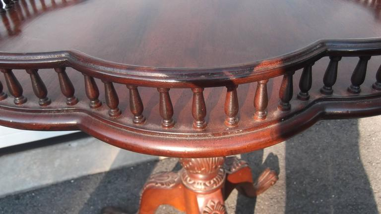 Unknown Georgian Style Mahogany Gallery Top Table For Sale