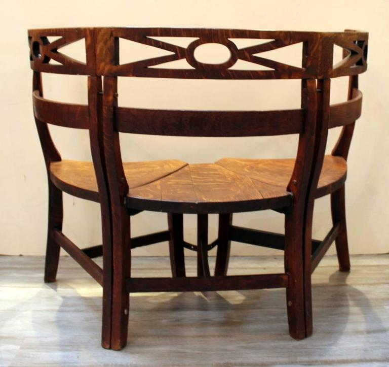 Chairs Fresh Dining Settee Bench With Extraordinary: Late 19th Century Oak Demilune Bench For Sale At 1stdibs