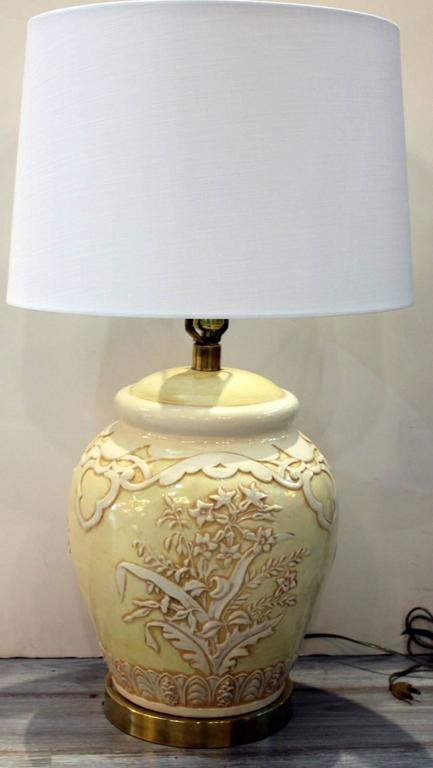 American Pair of Mid-Century Ceramic Lamps by Paul Hansen For Sale