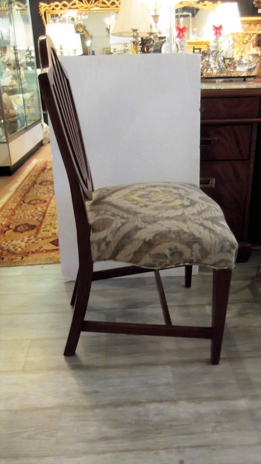 Set Of Six Hepplewhite Shield Back Dining Chairs At 1stdibs