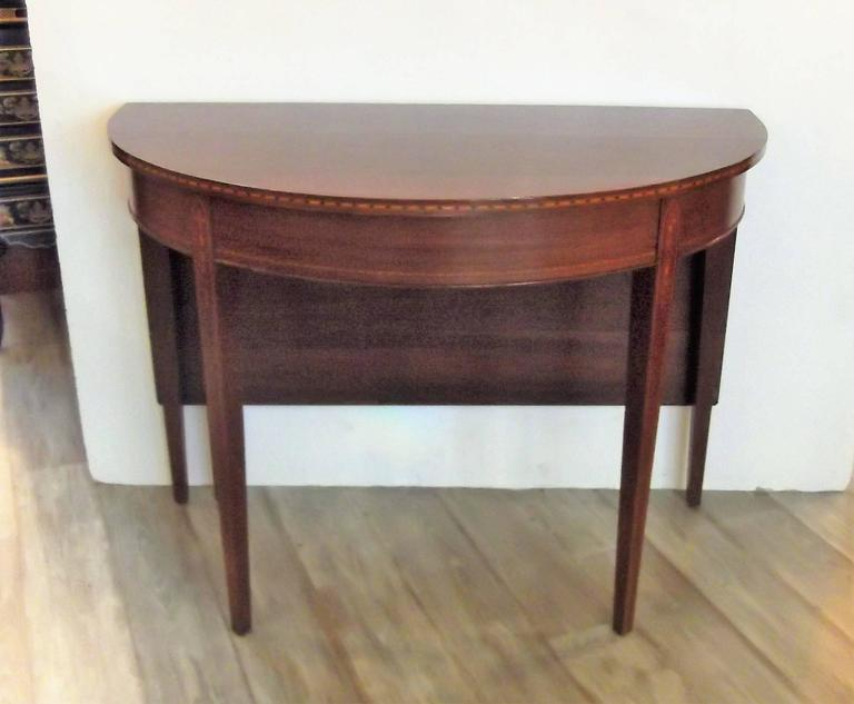 Mahogany Federal Style Inlaid Demilune Dining Table For  : DSCF2767l from www.1stdibs.com size 768 x 633 jpeg 36kB