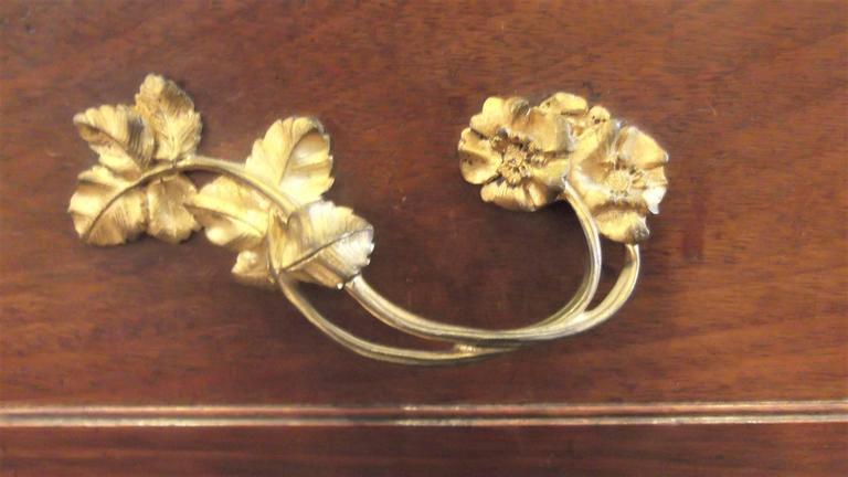 Art Nouveau Secretaire Abattant Desk in the Manner of Louis Marjorelle For Sale 1