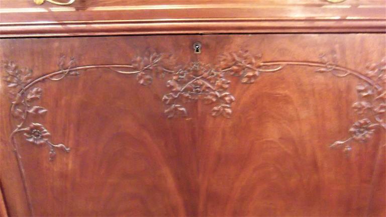 19th Century Art Nouveau Secretaire Abattant Desk in the Manner of Louis Marjorelle For Sale