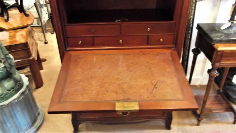 French Art Nouveau Secretaire Abattant Desk in the Manner of Louis Marjorelle For Sale