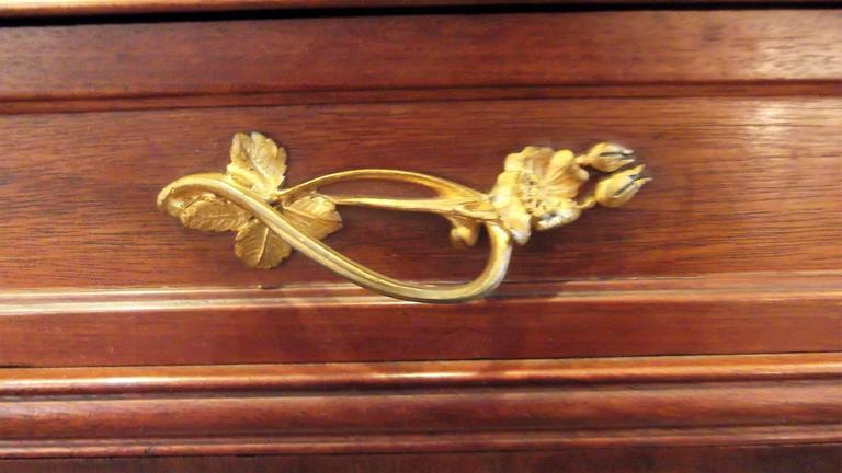 Art Nouveau Secretaire Abattant Desk in the Manner of Louis Marjorelle For Sale 2