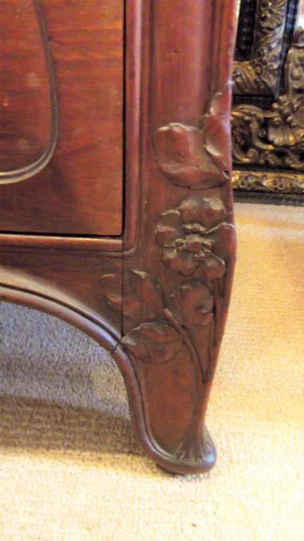 Art Nouveau Secretaire Abattant Desk in the Manner of Louis Marjorelle 6
