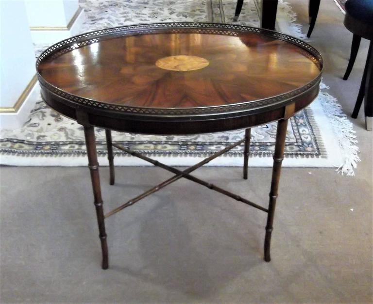 Oval Gallery Top Cocktail Table By Baker Furniture For Sale At 1stdibs