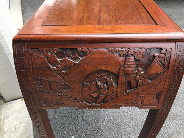 Hand carved chinese console table for sale at stdibs