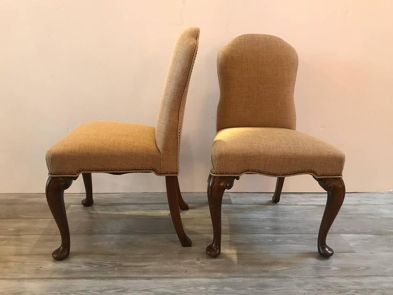 Set of six upholstered dining chairs for sale at 1stdibs for Upholstered dining chairs for sale