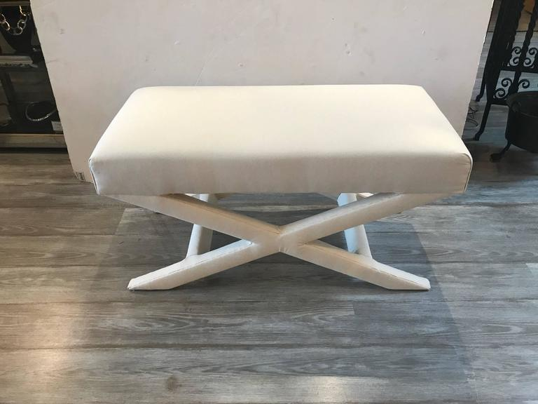 Billy Baldwin Style X Bench For Sale At 1stdibs