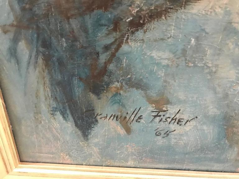 Mid-20th Century Oil Painting on Board Nude In Excellent Condition For Sale In Lambertville, NJ