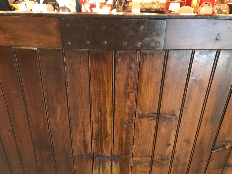 Late 19th Century 19th Century Pine Settle Bench For Sale